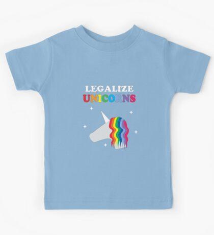 Legalize Unicorns Kids Tee