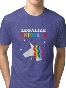 Legalize Unicorns Tri-blend T-Shirt