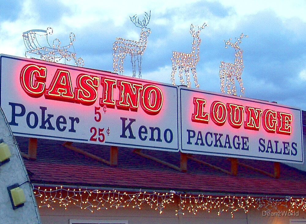 Casino Lounge at Christmas by Dean Warwick