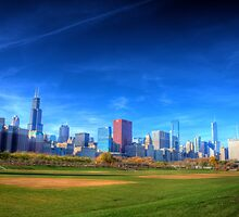 Chicago City Skyline by Adam Kuehl