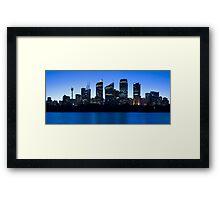 Sydney Blu Framed Print