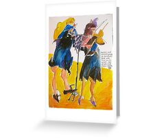 two thirds of a trio: flute and violin Greeting Card