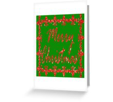 Merry Christmas-Red Greeting Card