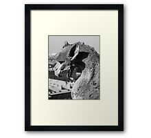 Weathered Gargoyle Framed Print