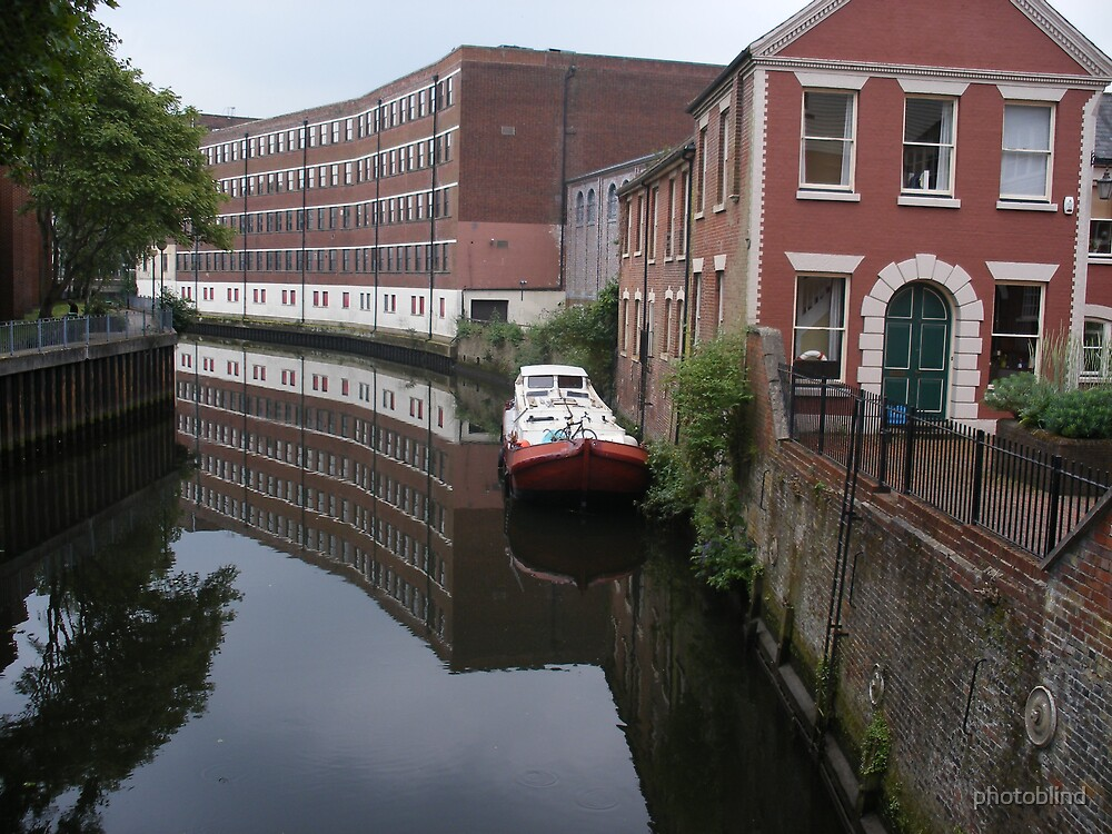 River Wensum and a barge by photoblind