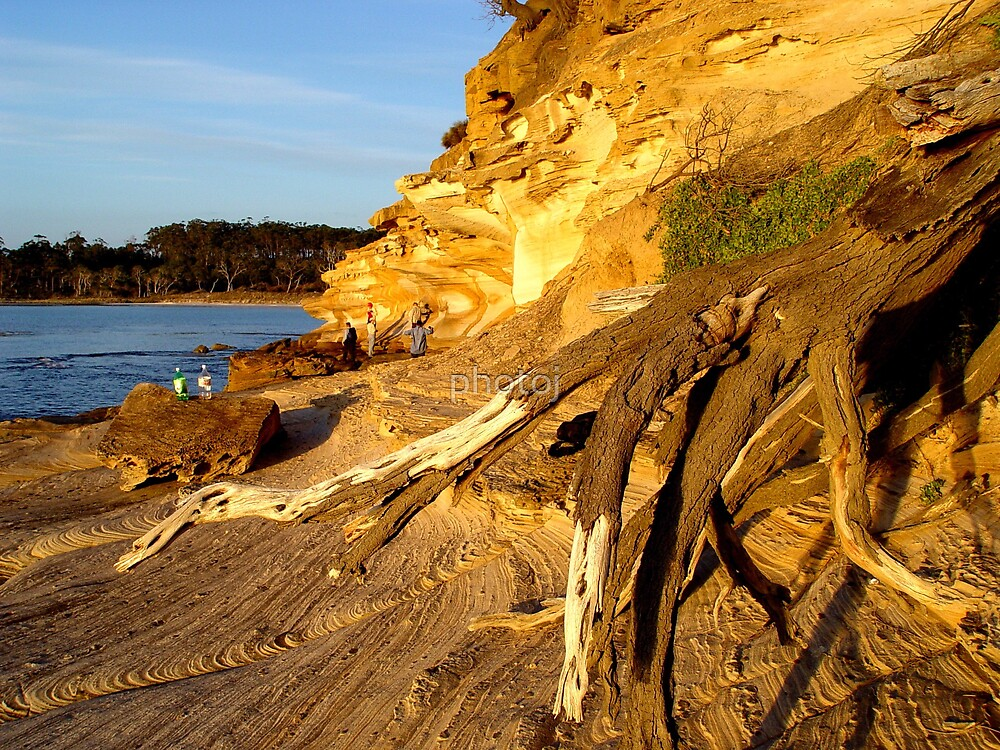 photoj- Tas, Maria Island, 'The Painted Cliffs' by photoj