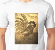 ROOSTER IN THE GRASS Unisex T-Shirt