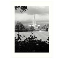 Norwich Cathedral before a storm Art Print