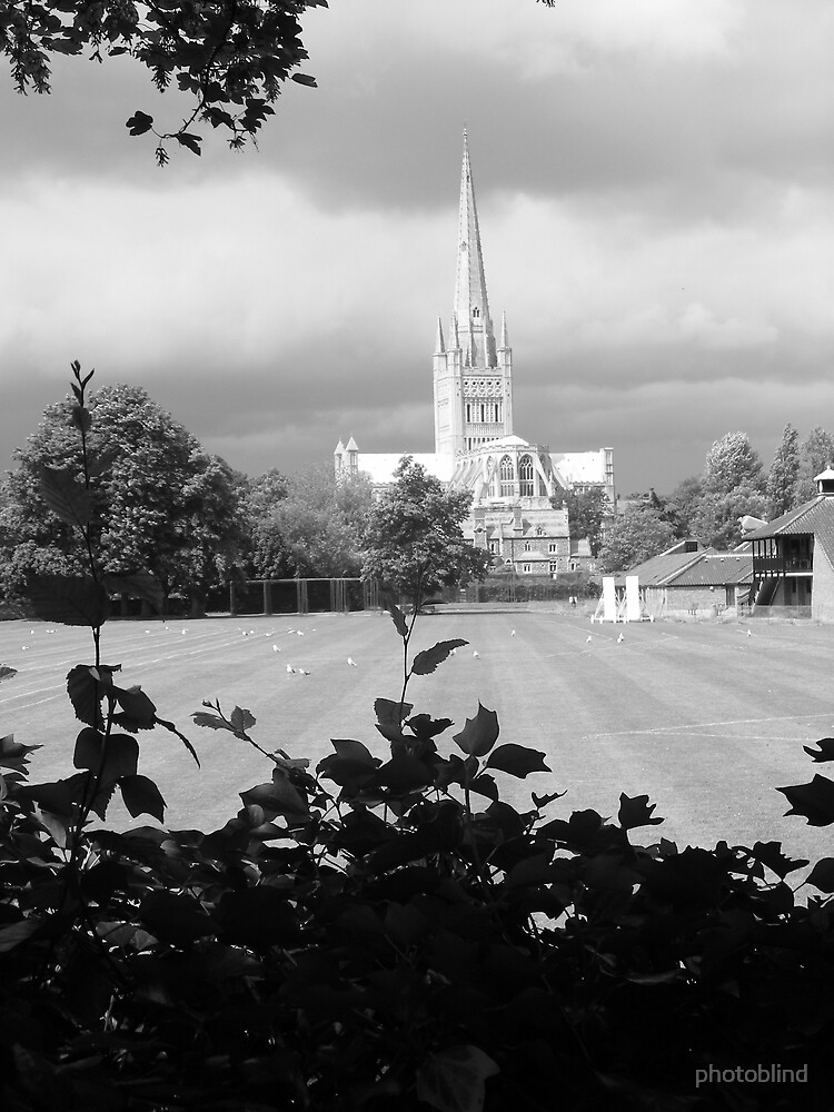 Norwich Cathedral before a storm by photoblind