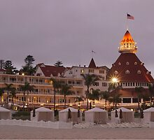 end of the beach day - del coronado hotel by mellychan