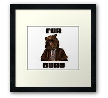 Fur Sure Framed Print