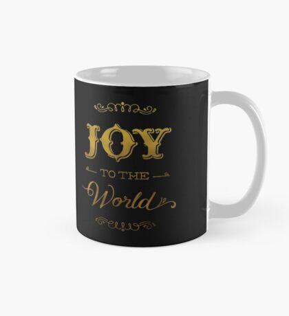Joy to the World in gold Mug