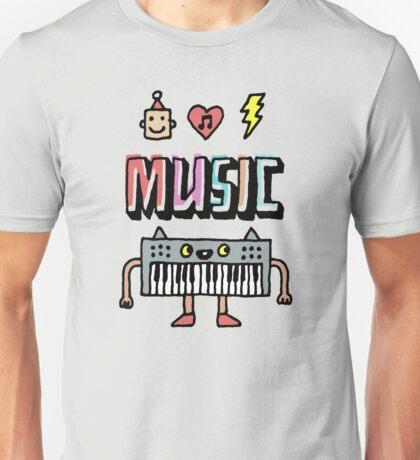 Music Keyboard Guy Unisex T-Shirt