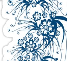 Flora Exotica Blu Sticker