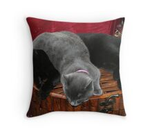 REDREAMING KITTY DREAMING Throw Pillow