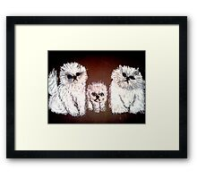 THREE LITTLE KITTENS Framed Print