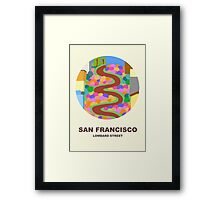 City Art San Francisco Lombard street Framed Print