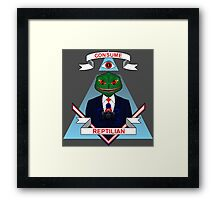 Consume Reptilian Framed Print