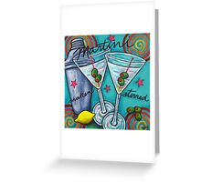 Retro Martini Greeting Card