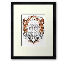 Creepy goggles  Framed Print