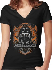 Creepy goggles  Women's Fitted V-Neck T-Shirt