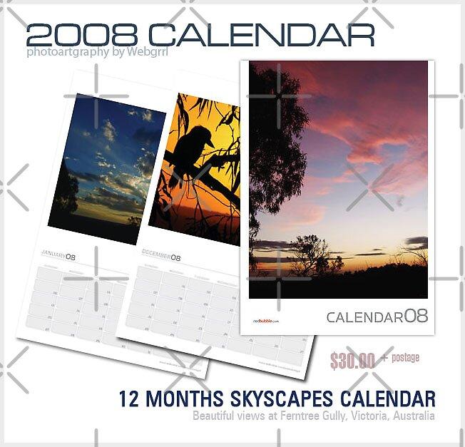 skyscapes 2008 calendar by webgrrl