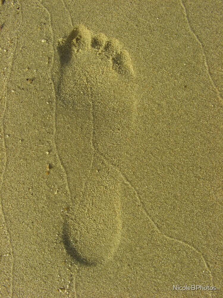Step ahead - Footprint at the beach by NicoleBPhotos