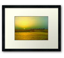 Desert sunrise, Failaka island Kuwait Framed Print