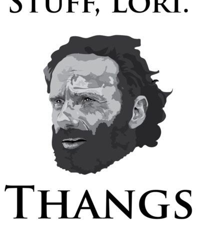 Rick Grimes Has Been Doing Thangs (T shirt) Sticker
