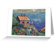(The coastguards cottage( from my original acrylic painting) Greeting Card