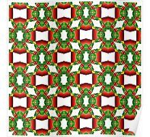 Holly Tree Tracery Poster