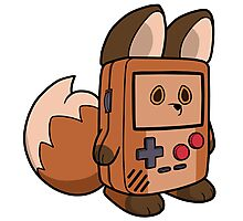 Game Boy Fox Photographic Print
