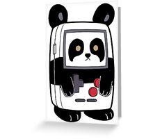 Game Boy Panda Greeting Card