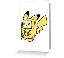 Game Boy Pikachu Greeting Card