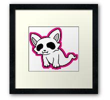 Ghost Cat Framed Print