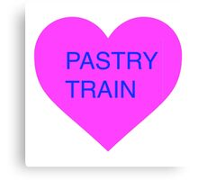 Pastry Train Heart Canvas Print