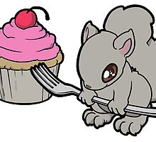 Little Squirrel with a Cupcake by 57MEDIA