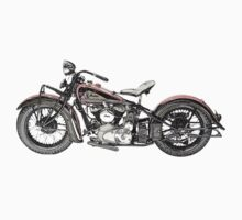 1937 Indian Chief Motorcycle One Piece - Long Sleeve