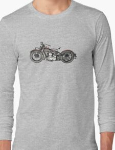 1937 Indian Chief Motorcycle Long Sleeve T-Shirt