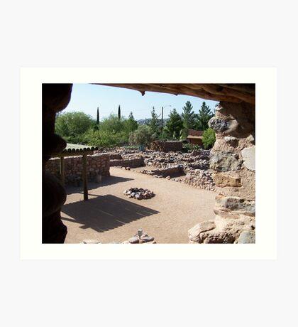 Arizonia Ruins Art Print