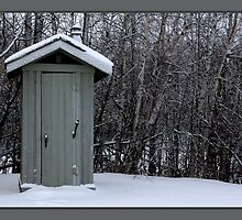 frosty outhouse by TerriRiver