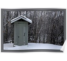 frosty outhouse Poster