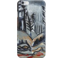 North Woods Mood(Based on a Watercolor by Charles E. Burchfield iPhone Case/Skin