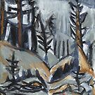 North Woods Mood(Based on a Watercolor by Charles E. Burchfield by RobynLee