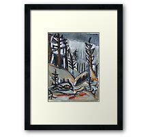 North Woods Mood(Based on a Watercolor by Charles E. Burchfield Framed Print