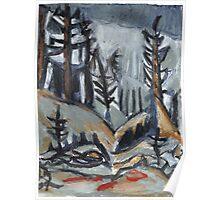 North Woods Mood(Based on a Watercolor by Charles E. Burchfield Poster