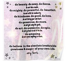 Do and Do Not... by Amy Ferris Poster
