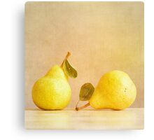Pear Dialogue Canvas Print
