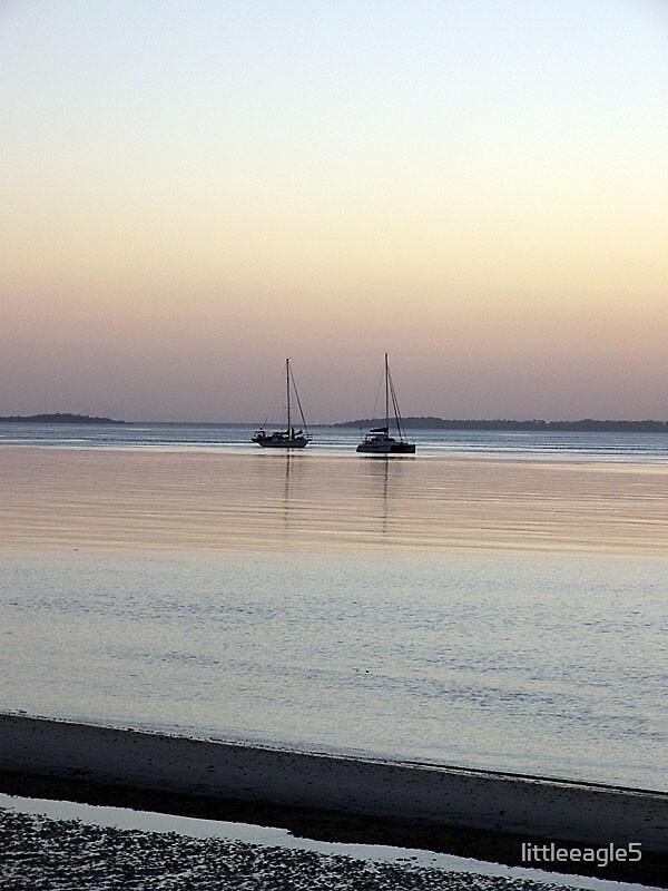 Boats at eventide Fraser Island, Queensland by littleeagle5