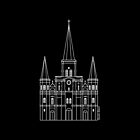 St. Louis Cathedral (White) by StudioBlack
